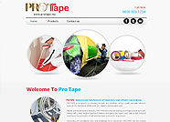 This website is designed by Logoinn for 'Protape'  in March  , 2013