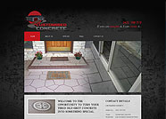 This website is designed by Logoinn for 'Customised Concrete'  in September  , 2012