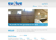 This website is designed by Logoinn for 'Evolve Plumbing'  in July  , 2013