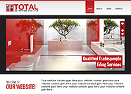 This website is designed by Logoinn for 'Total bathroom and Tile' in Jan, 2015.