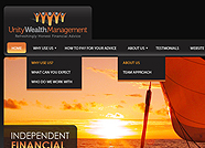 This website is designed by Logoinn for 'Unity wealth Management' in June, 2011.