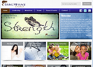 This website is designed by Logoinn for 'Living Message Church' in May, 2013.