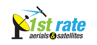 Logoinn created this logo for 1st rate aerials & satellites - who are in the Media Logo Design  Sectors