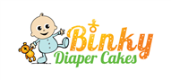 Logoinn created this logo for Binky Diaper Cakes - who are in the Fun Logo  Sectors