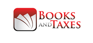 Logoinn created this logo for Books and Taxes - who are in the Accountancy Firm Logo Design  Sectors
