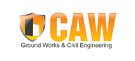Logoinn created this logo for CAW Ground Works & Civil Engineering - who are in the Civil Engineering Logo  Sectors