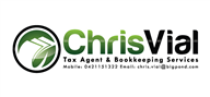 Logoinn created this logo for Chris Vial Tax Agent & Bookkeeping Services - who are in the Accountancy Firm Logo Design  Sectors