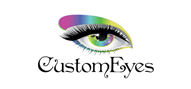 Logoinn created this logo for CustomEyes Contact Lenses Pty Ltd - who are in the Makeup Logo  Sectors