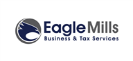 Logoinn created this logo for Eagle Mills Business & Tax Services LLC - who are in the Accountancy Firm Logo Design  Sectors