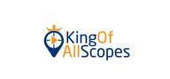 Logoinn created this logo for King Of All Scopes - who are in the Entertainment Logo Design  Sectors