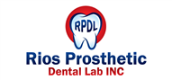 Logoinn created this logo for Rios Prosthetic Dental Lab INC - who are in the Dentist Logo Design  Sectors