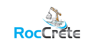 Logoinn created this logo for RocCrete - who are in the Civil Engineering Logo  Sectors