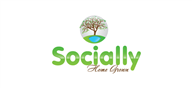 Logoinn created this logo for Socially Home Grown - who are in the PR Logo Design  Sectors