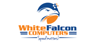Logoinn created this logo for White Falcon Computers - who are in the Computer Logo Design  Sectors
