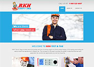 This website is designed by Logoinn for 'RKH Test & Tag'  in August  , 2013