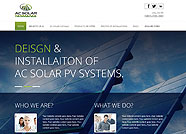 This website is designed by Logoinn for 'Ac Solar Tasmania'  in August  , 2013