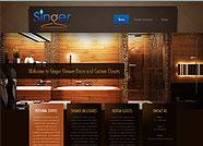 This website is designed by Logoinn for 'Singer Shower Doors & Custom Closets'  in October   , 2012