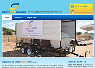 This website is designed by Logoinn for ' Safety First Rentals ' in July , 2011.