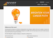 This website is designed by Logoinn for ' Boost Recruiting' in September , 2011.