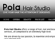 This website is designed by Logoinn for ' Pola Hair Studio ' in August, 2011.