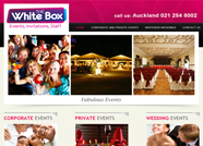 This website is designed by Logoinn for 'White Box Events' in Jan, 2012.
