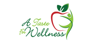 Logoinn created this logo for A Taste For Wellness - who are in the Health Logo Design  Sectors