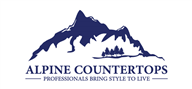 Logoinn created this logo for Alpine Countertops  - who are in the Industrial Logo Design  Sectors