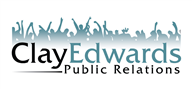 Logoinn created this logo for Clay Edwards Public Relations - who are in the Entertainment Logo Design  Sectors