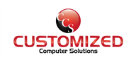 Logoinn created this logo for Customized Computer Solutions Inc - who are in the Computer Logo Design  Sectors