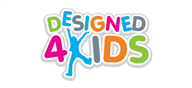 Logoinn created this logo for Designed 4 Kids - who are in the Kids Logo  Sectors