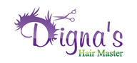 Logoinn created this logo for Digna's Hair Master - who are in the Hair Logo Design  Sectors