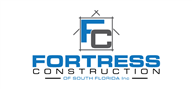 Logoinn created this logo for Fortress Construction of South Florida Inc. - who are in the Construction Logo Design  Sectors