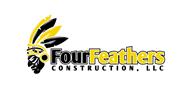Logoinn created this logo for Four Feathers Construction, LLC - who are in the Civil Engineering Logo  Sectors