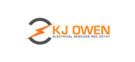 Logoinn created this logo for K J Owen Electrical Services  - who are in the Construction Logo Design  Sectors