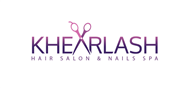 Logoinn created this logo for Khearlash Hair Salon & Nails Spa - who are in the Salon Logo Design  Sectors