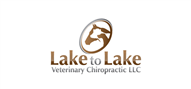 Logoinn created this logo for Lake to Lake Veterinary Chiropractic LLC - who are in the Veterinary Logo Design  Sectors