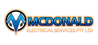 Logoinn created this logo for MCDONALD ELECTRICAL SERVICES PTY LTD - who are in the Construction Logo Design  Sectors