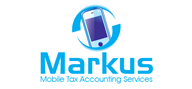 Logoinn created this logo for Markus Mobile Tax Accounting Services - who are in the Accountancy Firm Logo Design  Sectors