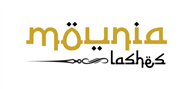Logoinn created this logo for Mounia Lashes - who are in the Arabic Logo Design  Sectors