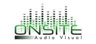 Logoinn created this logo for On Site Audio Visual - who are in the Music Logo Design  Sectors