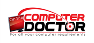 Logoinn created this logo for On Site Computer Doctor - who are in the Computer Logo Design  Sectors