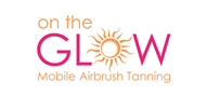 Logoinn created this logo for On The Glow Mobile Airbrush Tanning - who are in the Makeup Logo  Sectors