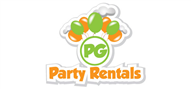Logoinn created this logo for PG Party Rentals - who are in the Party Logo  Sectors