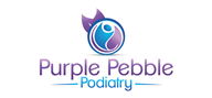 Logoinn created this logo for Purple Pebble Podiatry - who are in the HealthCare Logo Design  Sectors