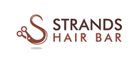 Logoinn created this logo for STRANDS HAIR BAR - who are in the Hair Logo Design  Sectors