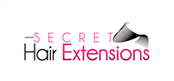 Logoinn created this logo for Secret Hair Extensions - who are in the Hair Logo Design  Sectors