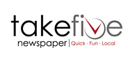 Logoinn created this logo for Take 5 Newspaper - who are in the Entertainment Logo Design  Sectors