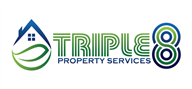 Logoinn created this logo for Triple 8 Property Services - who are in the Landscape Logo Design  Sectors
