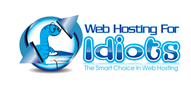 Logoinn created this logo for Web Hosting For Idiots - who are in the Fun Logo  Sectors