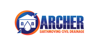 Logoinn created this logo for archer earthmoving civil & drainage - who are in the Construction Logo Design  Sectors